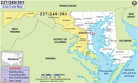 what us area code is 301 301 area code map where is 301 area code in maryland