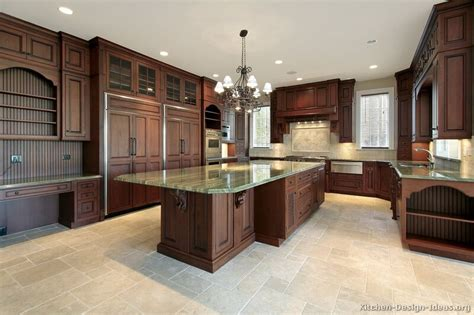 luxurious kitchen design cherry color kitchen cabinets and isles home design ideas essentials