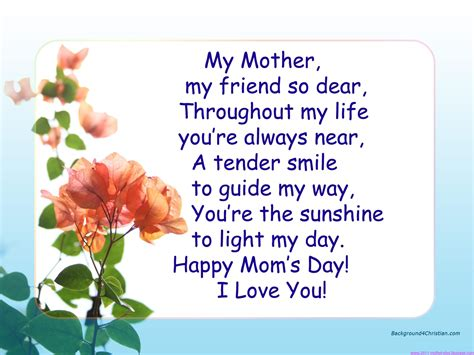 mothers day poems free large images