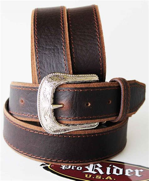 Handcrafted Western Belts - 32 44 tackrus brown handmade western leather handmade