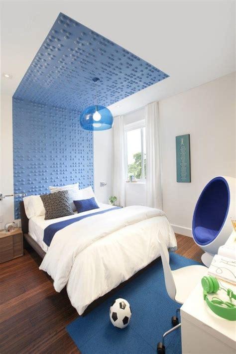 schlafzimmer ideen futuristisch modernes zimmer jungen blau wei 223 wand decke deko