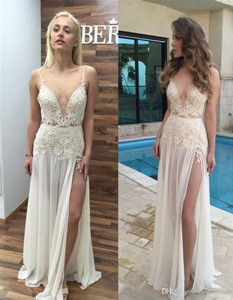 wedding dresses with thigh high slits thigh high slits wedding dresses 2017 v
