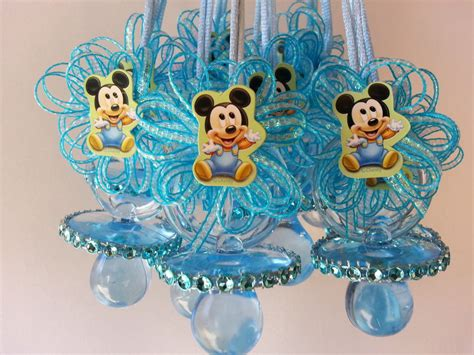 Mickey Mouse Baby Shower Items by 12 Baby Mickey Mouse Pacifier Necklaces Baby Shower