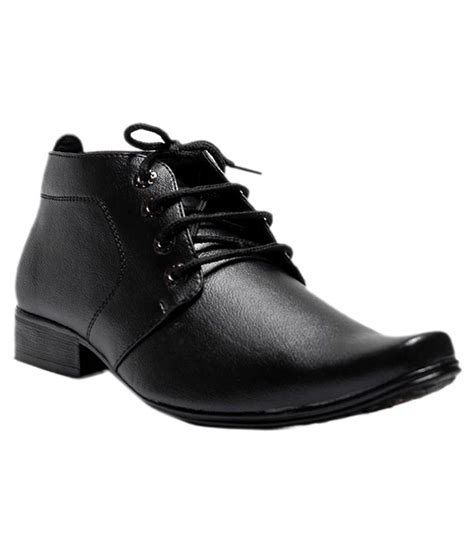 gmerd black synthetic leather formal shoes price in india