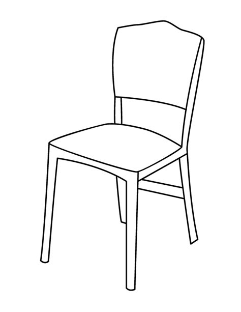 school chair coloring page chair coloring page getcoloringpages com