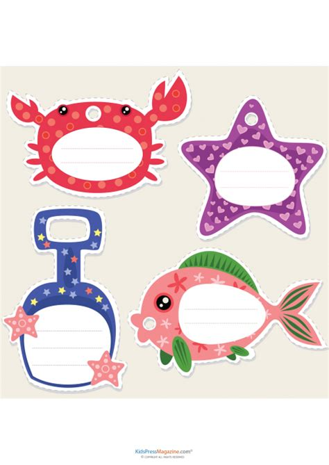 Ocean Theme Name Cards Names And Cards | name cards ocean theme kidspressmagazine com