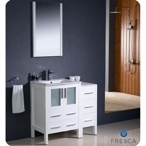 36 inch modern bathroom vanity fresca torino 36 inch white modern bathroom vanity with