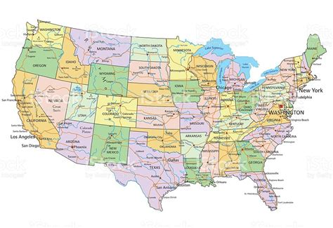 united states map in detail detailed map of the united states world map 07