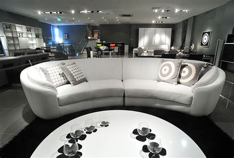 black and white living room furniture with round coffee luxury white half round leather sofa with round coffee