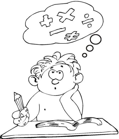 imagenes estudiando matematicas free coloring pages of ninos estudiando