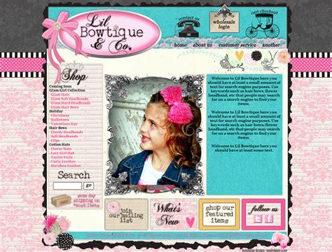 scrapbook layout idea websites boutique web design portfolio by hip web designer