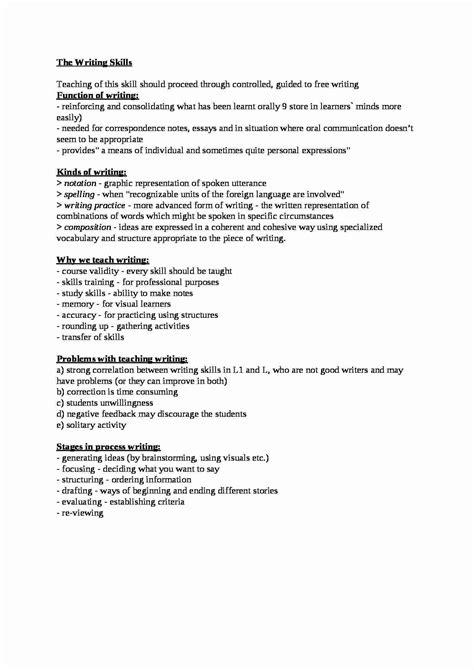 Cv Architekt Krajobrazu Po Angielsku The Writing Skills Teaching Writing Opracowanie Notatek Pl