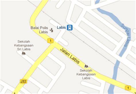 Ktm Intercity Map Labis Railway Station Mrt My