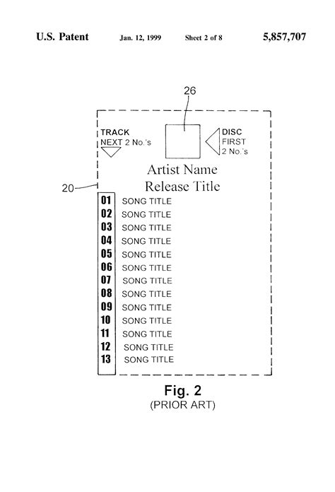 Cd Jukebox Title Card Template by Patent Us5857707 Jukebox Display And Method Of