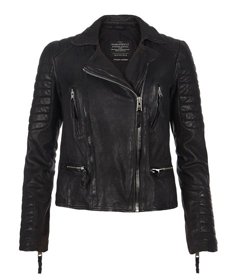 all black motorcycle jacket allsaints pitch leather biker jacket in black lyst