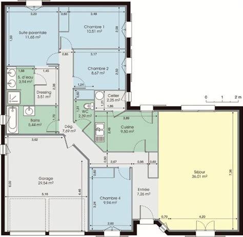 Plan Maison Bois Plain Pied 4 Chambres