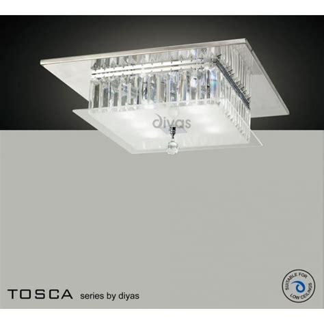 p square tosca diyas tosca 6 light ceiling light polished chrome