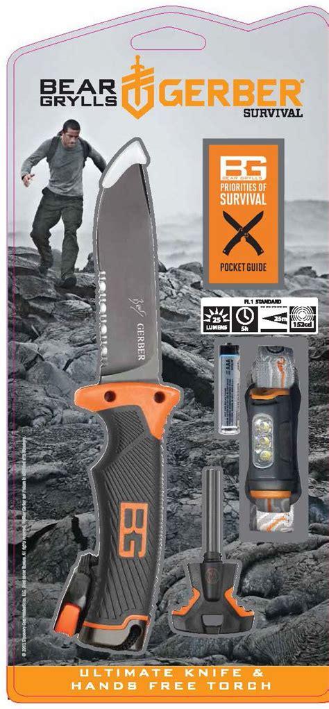 grylls survival series ultimate kit gerber grylls ultimate knife free torch