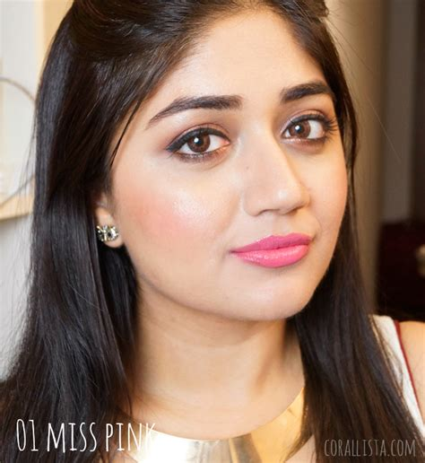 Miss Pink 18 color boost lipsticks swatches review corallista