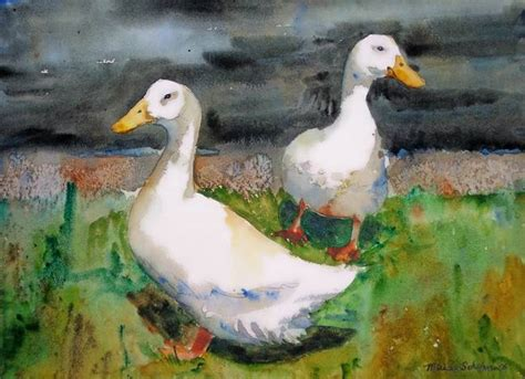 ozzie and harriet white duck watercolor painting by stunning quot ducks quot watercolor painting reproductions for