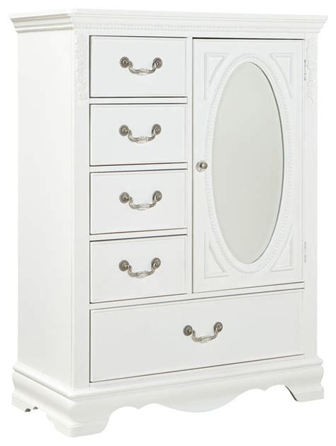 white armoire dresser standard furniture jessica 5 drawer kids wardrobe in