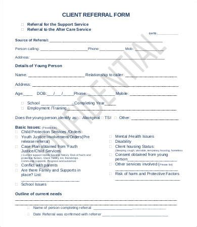 referral form template referral form template 9 free pdf documents