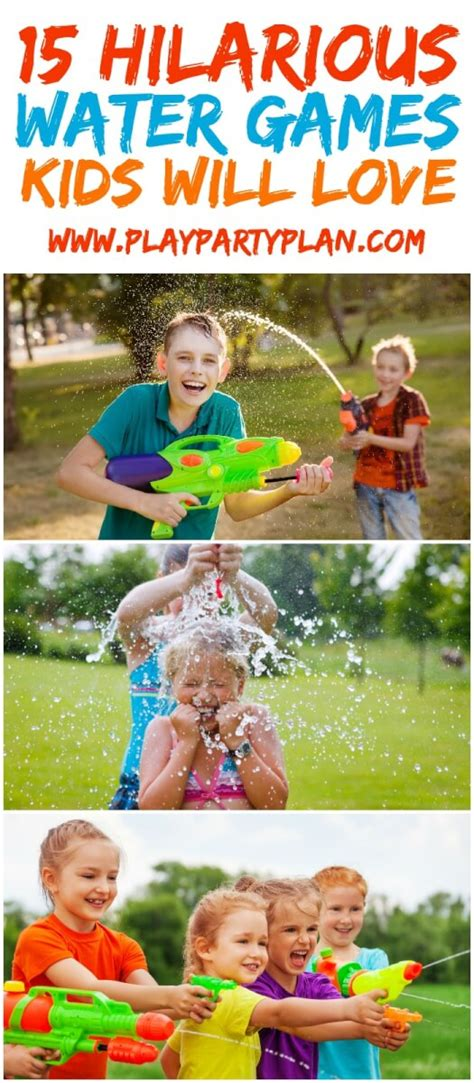 backyard water games outdoor water games play party plan