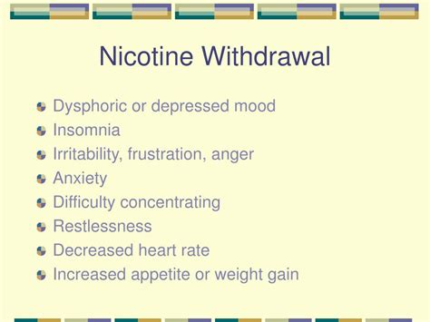 Signs Of Detoxing From Nicotine by Nicotine Withdrawal Pictures Posters News And