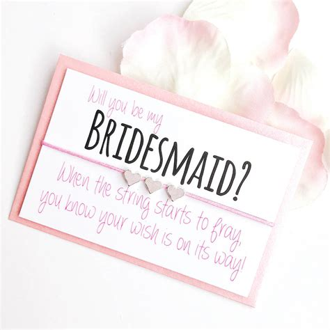 Will You Be My will you be my bridesmaid handmade wish bracelet by team