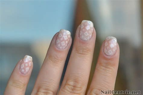 Simple Lace Wedding Nails wedding nails with white lace accent tutorial