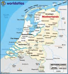 Holland World Map by Netherlands Large Color Map