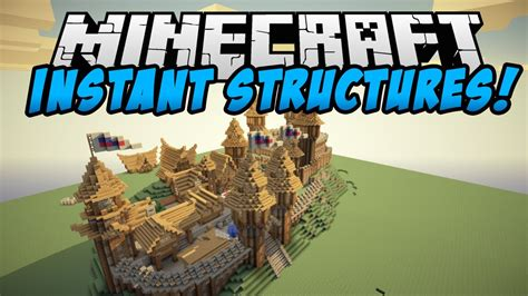 Minecraft Instant House Mod by Minecraft Mods Instant Structures Mod Mob Trap Houses