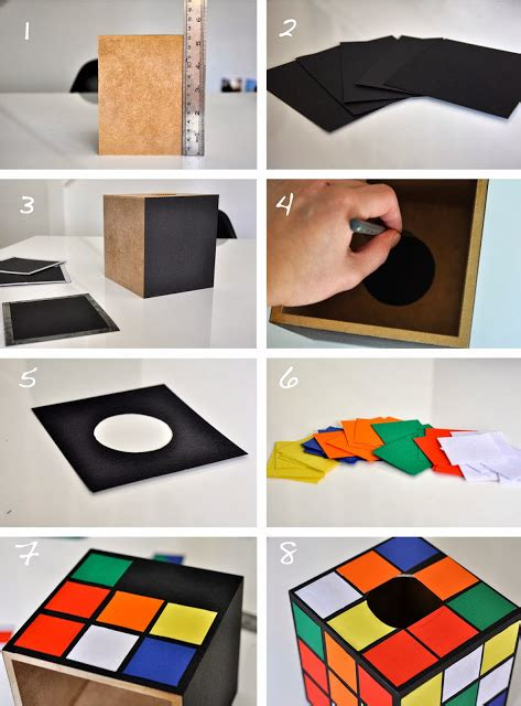 How To Make A Rubix Cube Out Of Paper - how to make rubik s rubix cube tissue box cover holder the