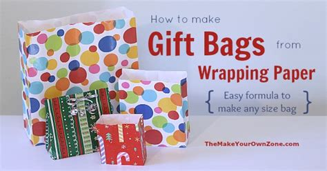Gift Bags From Wrapping Paper - make a gift bag from wrapping paper the make your own zone
