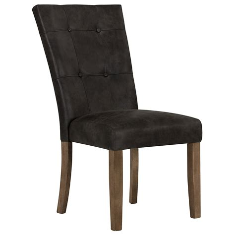 Leather Side Chair City Furniture Emmett Gray Bonded Leather Side Chair
