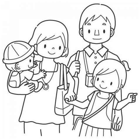 family picture coloring page get this family coloring pages printable for kids r1n7l