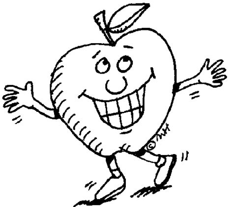 cartoon apple coloring pages apple coloring pages to print