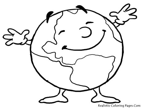 earth coloring page of blank coloring pages
