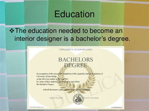 degree needed for interior design interior design