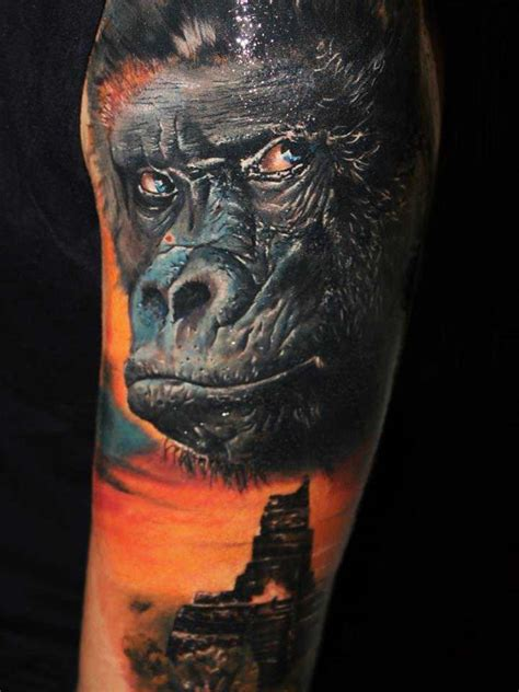 blue gorilla tattoo 40 dangerous animal pictures golfian