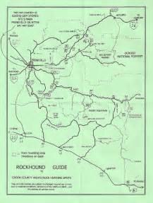 prineville oregon map prineville oregon maps courtesy of elkins gem stones