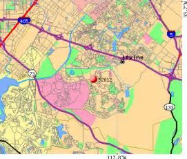 zip code irvine california map