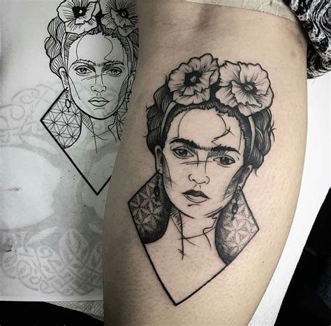 sculpture tattoo frida kahlo lx tattoos live by the gun