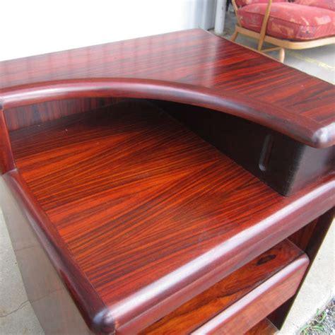 pair of teak and rosewood detail of danish modern floating pair of vintage danish rosewood nightstands for brouer