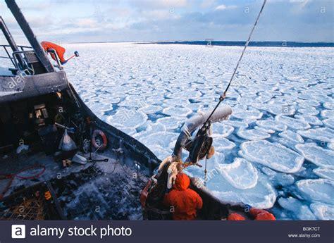 alaska bering sea crab fishing deck on the f v saga fishing stock photo royalty free