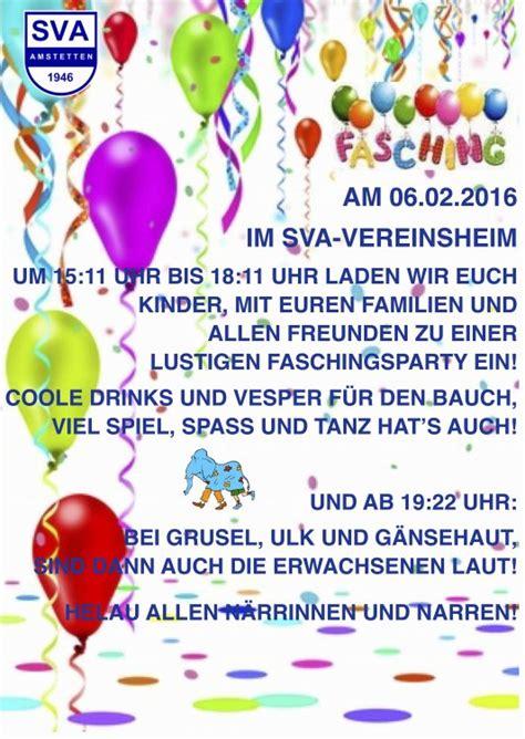 Muster Einladung Hallenturnier Sva Event Einladung Zum Fasching Im Sportheim Sportverein Amstetten 1946 E V