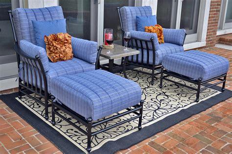 patio lounge set amia 2 person luxury cast aluminum patio furniture lounge