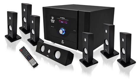 powerful 7 1 channel home theater system 8 speakers