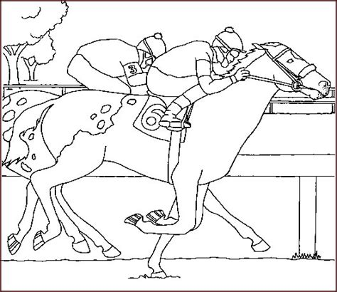 coloring pages of horses barrel racing pictures to colour horses