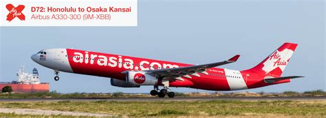 airasia x review airasia x a330 300 economy class honolulu to osaka flight